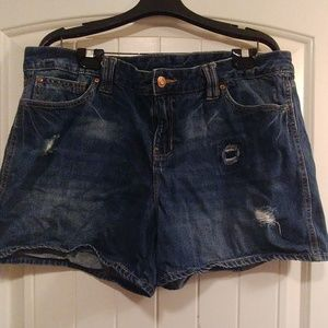 Gap dark wash shorts.